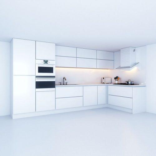 מטבח קלאסי לבן דגם Cleare kitchen
