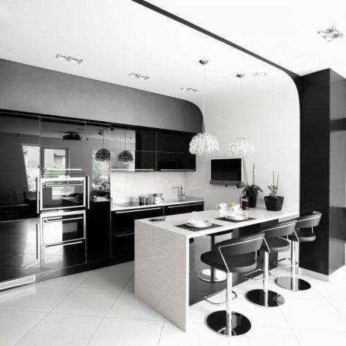 מטבח מעוצב דגם Black s White